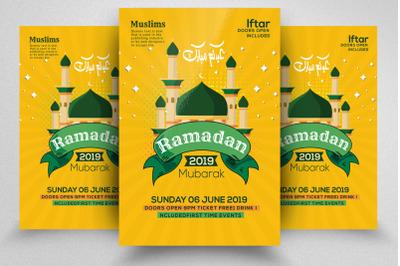 Eid Mubarak Islamic Festival Flyer