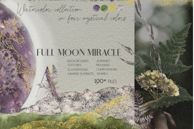 Full Moon Miracle Watercolor