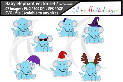baby elephant svg / baby elephant clipart vector