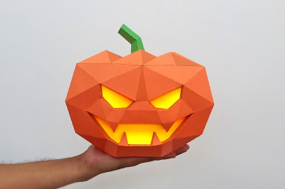 DIY Halloween Pumpkin - 3d papercraft