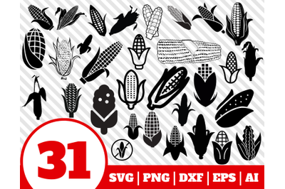 31 CORN SVG BUNDLE - corn clipart - corn vector - corn cricut - corn