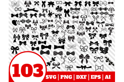 103 BOW SVG BUNDLE - bow clipart - bow vector - bow cricut - bow