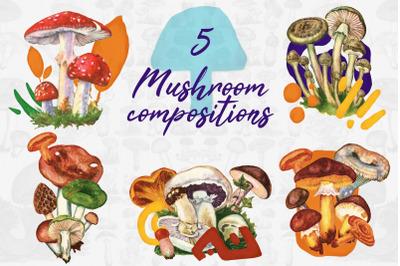 5 Mushroom Compositions