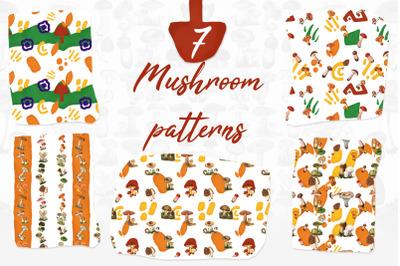 7 Mushroom Patterns