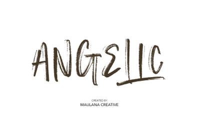 Angelic SVG Brush Font