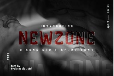 Newzone Sport Font