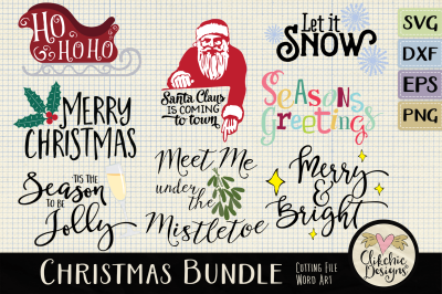 Christmas SVG Clipart Bundle