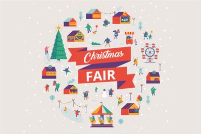 Christmas market and holiday fair