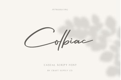 Colbiac - Casual Script Font