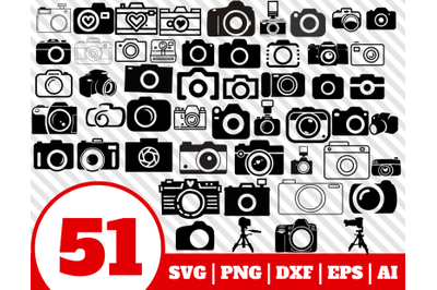 51 CAMERA SVG BUNDLE - camera clipart - photocamera vector - camera