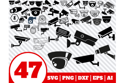 47 Security Camera SVG BUNDLE - Security Camera clipart - Security