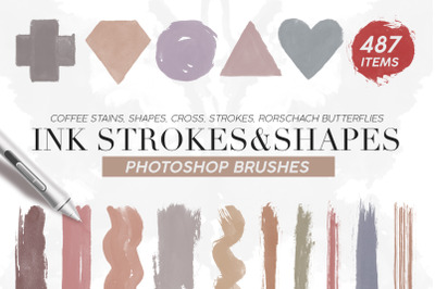487 Ink Shapes Photoshop Brushes