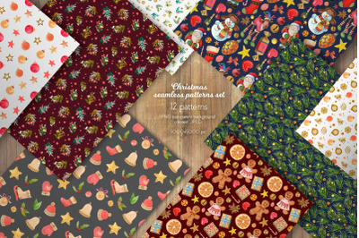 Christmas Seamless Patterns Collection