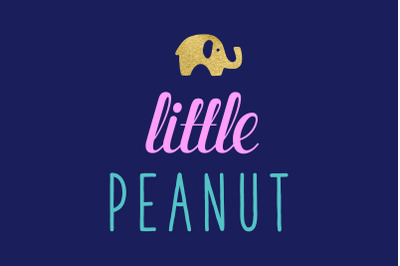 Little Peanut Elephant SVG