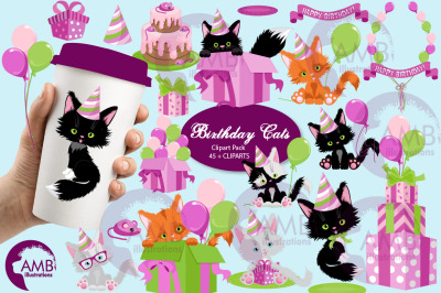 Birthday Cats mini bundle AMB-2670