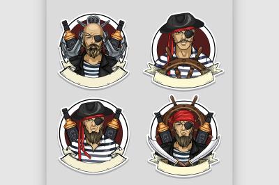 Sketch set of pirate