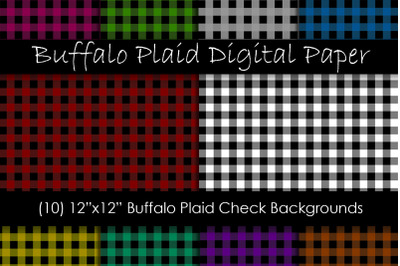 Buffalo Check Digital Paper - Plaid Backgrounds
