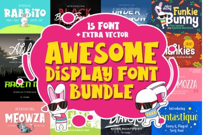 Awesome Display Font Bundle