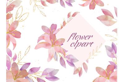 Watercolor  lilies