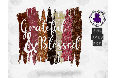 Grateful and Blessed shirt design sublimation Thanksgiving