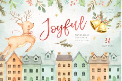 Joyful Watercolor Christmas Set