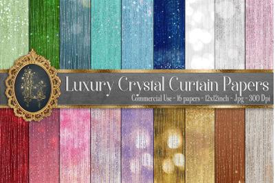 18 Luxury Crystal Glitter Bokeh Curtain Digital Papers