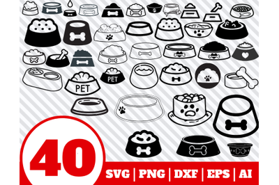 40 Dog Bowl SVG BUNDLE - Dog Bowl clipart - Dog Bowl vector - Dog Bowl