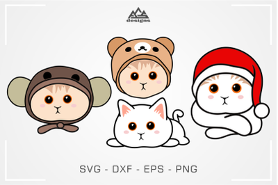 Cute Kitty Cat Svg Design