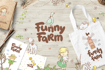 Funny Farm animals