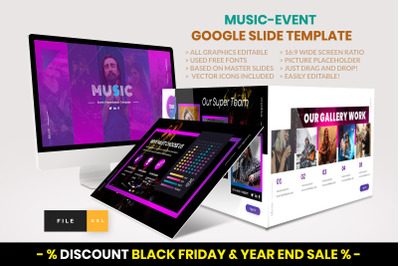 Music - Event Google Slide Template