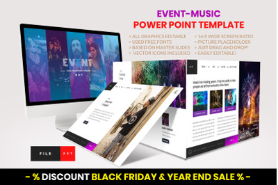 Event - Music PowerPoint Template