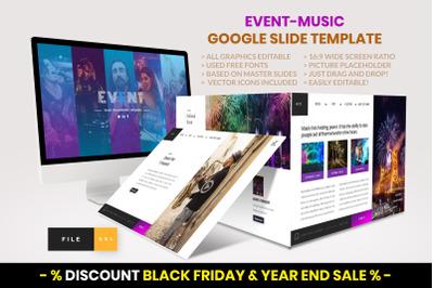 Event - Music Google Slide Template