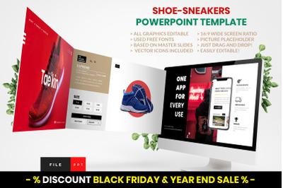 Shoe  -  Sneakers PowerPoint Template