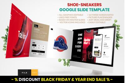 Shoe  -  Sneakers Google Slide Template