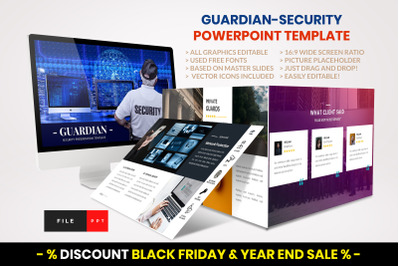 Guardian - Security PowerPoint template