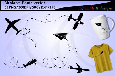 Airplane SVG / airplane route svg / airplane silhouette