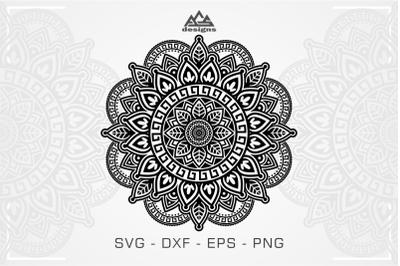 Zentangle Mandala Svg Design