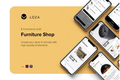 Furniture Shop Mobile App UI Kit