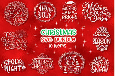 Christmas SVG Bundle - 10 items
