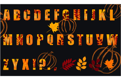 Letters for Autumn and Thanksgiving Day design