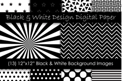 Black and White Pattern Designs