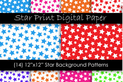 Star Patterns in Multiple Colors