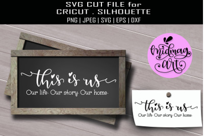 This is us sign svg, home decor svg, farmhouse svg