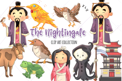 The Nightingale Story Book Clip Art