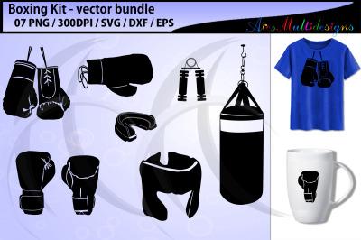 Boxing svg / boxing glove svg / boxing kit vector