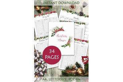 Christmas planner Letter size PDF