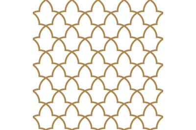 Seamless arabic geometric ornament in brown color.Moroccan pattern.