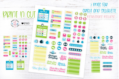 Fitness Planner Print n Cut Stickers