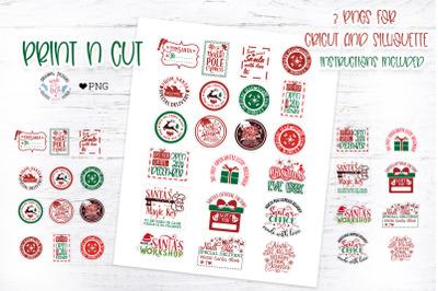 Christmas Santa Stamp Stickers