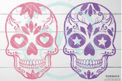 Halloween Sugar Skulls SVG